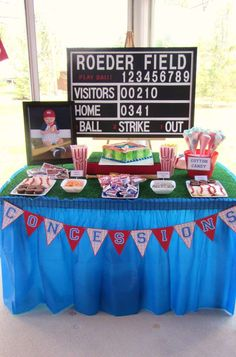 Baseball Birthday Party Ideas | Photo 9 of 29 | Catch My Party