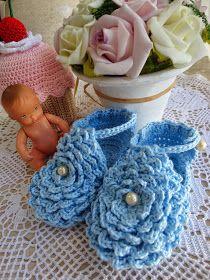 Toca do tricot e crochet: Passo a passo sapatinho de bebê !!!