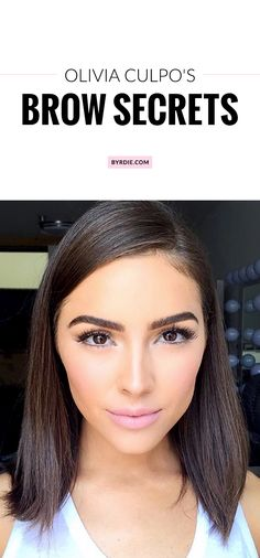 How Olivia Culpo maintains her gorgeous eyebrows.