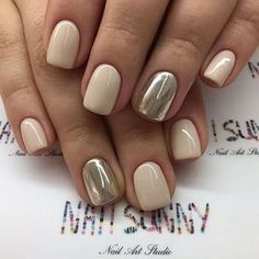 Oval shape instead but colors, YES! ~ JMM 50 Reasons Shellac Nail Design Is The Manicure You Need Right Now