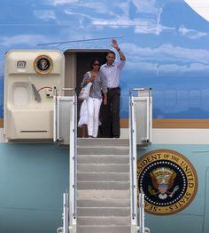 Barack Obama Malia Obama Photos: The Obama Family Arrives At Martha's Vineyard For Summer Vacation