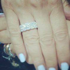 Diamond pave ring.
