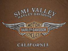 HARLEY DAVIDSON Motorcycle T-Shirt * SIMI VALLEY * Vtg TATTOO Biker Journal 2XL