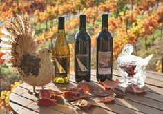The 2014 Turkey Trio! Three wines to complete your Thanksgiving menu. $40 (includes tax) for three bottles of wine: 2013 Pinot Grigio, 2013 Zinfandel, and the Masque. $35 (includes tax) for Wine Club members. Sale starts Thursday, November 20th, 2014, and runs until we close the day before Thanksgiving. Come by the Lucchesi Tasting Room to taste these wines, and let us help you plan your food and wine pairing menu for Thanksgiving!