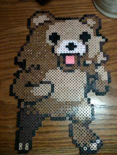 Pedo Bear Perler Bead via Etsy