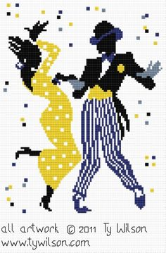 Dancing couple x-stitch Ty Wilson