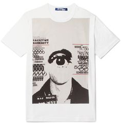 <a href='http://www.mrporter.com/mens/Designers/Junya_Watanabe'>Junya Watanabe</a>'s T-shirt is printed with the work of Polish artist Mr Bronislaw Zelek, and reads 'Fałszywe pieniądze', meaning 'counterfeit money'. Made from soft cotton-jersey, this graphic piece looks best with slim trousers and sneakers.