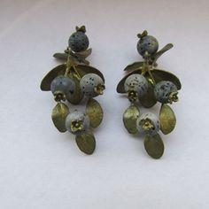 Michael Michaud Silver Seasons Blueberry Drop Earrings