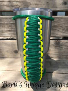 Green Bay Packers Bungee Handle for Tumblers, Tumbler Handle, Paracord Handle, Fits Yeti, Ozark, RTIC and other 20oz/30oz/40oz Tumblers by BarbsUniqueDesignUS on Etsy