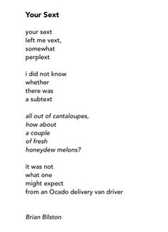 Have just discovered Brian Bilston. Brilliant poet