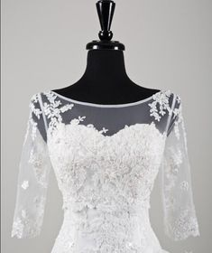Cheap wedding lace bolero, Buy Quality lace bolero directly from China bridal jacket Suppliers: Sexy Sheer Half Sleeves Bridal Jacket Appliques Beads Scoop Neck Wedding Lace Bolero Women Custom Made FHJ003