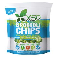 Buy Broccoli Chips - Sea Salt Online - The Broccoli Chips are vacuum fried for a superbly crisp and higher nutrient result. Great for a healthy snack on the go. Healthy Snacks, Healthy Recipes, Raspberry Ketones, Guilt Free, Sea Salt, Broccoli, Chips, Eat, Amazing