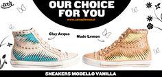 #Vanilla #ClayAcqua e #NudeLemon sono le #sneaker in #pelle #intagliata di #Ash! #Divertenti, #colorate e #mai noiose!