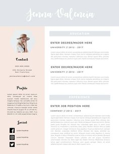 Free Simple Resume Template  Me Likey    Simple