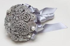 Ramo de novia de broches B de Blanca