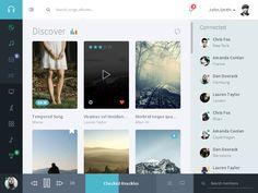 Musik Web Application by flatfull #tablet #ui #design http://www.pinterest.com/alextcsung/