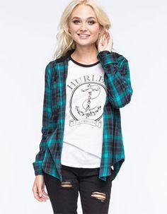 HURLEY Wilson Womens Hooded Flannel Shirt