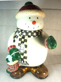 Debbie Mumm Snowman Cookie Jar by Sakura