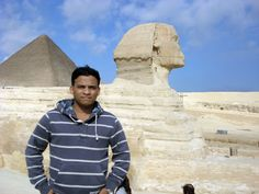 In front of Pyramids of #Giza, Egypt