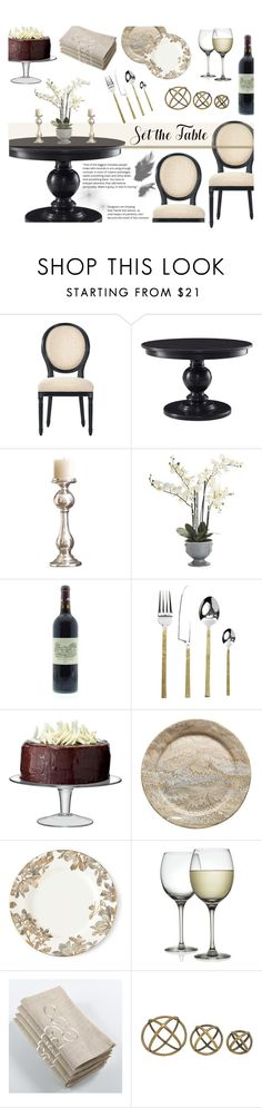 """Set the table!"" by nvoyce ❤ liked on Polyvore featuring interior, interiors, interior design, home, home decor, interior decorating, Home Decorators Collection, Global Views, Pier 1 Imports and NKUKU"