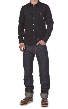 b4ab63d6a2f Eat Dust Western Denim Shirt Black