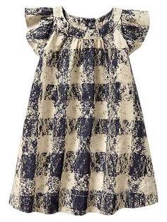 Chalk print flutter dress -- Shop online at babyGAP through Zoola and get cash back!