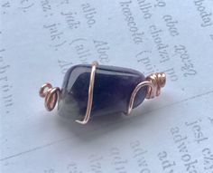 Items similar to Wire Wrapped Amethyst pendant. Raw Amethyst on Etsy Amethyst Pendant, Amethyst Stone, Purple Amethyst, Stone Wrapping, Wire Wrapping, February Zodiac, Understanding Dreams, Gold Wire, Healing Stones