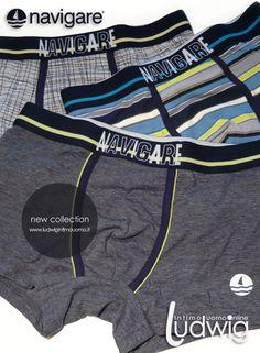 Boxer Uomo: Navigare underwear 2015. La nuova collezione dedicata ai Boxer Uomo per la Primavera estate 2015! #boxeruomo #navigare #moda http://www.ludwigintimouomo.it/28-intimo-moda-uomo-colorato