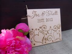 Rustic Wooden Guest Book Personalized with by WildFireFlies,