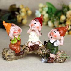 Rustic furnishings home decoration resin doll lilliputian cartoon crafts