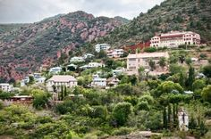 """Jerome, AZ - known as the largest ghost town, and the most vertical city in America, is currently a thriving arts community."""