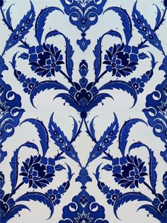 blue and white pattern Turkish Art, Turkish Tiles, Moroccan Tiles, Portuguese Tiles, Moroccan Decor, Moroccan Bedroom, Moroccan Lanterns, Tile Art, Mosaic Art