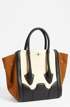 Pour la Victoire 'Butler - Large' Snake Embossed Leather  Suede Tote | Nordstrom