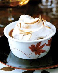 Pumpkin Pudding with Mile-High Meringue Recipe on Food & Wine