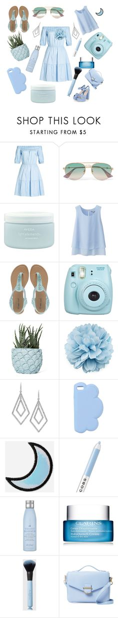 """""""Baby blue is my new favorite color"""" by mintmila ❤ liked on Polyvore featuring HUGO, Gucci, Aveda, Uniqlo, Wet Seal, Fujifilm, Chen Chen & Kai Williams, ABS by Allen Schwartz, STELLA McCARTNEY and Marc Jacobs"""