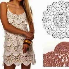 Harmonia Em Crochê: Vestido de crochê - com Pap