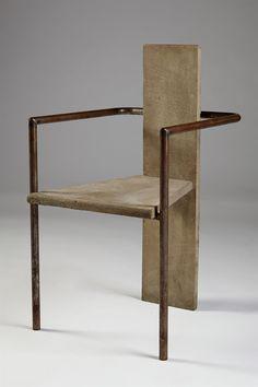 Concrete. Armchair designed by Jonas Bohlin for Källemo, Sweden. 1981.