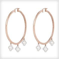 1ca70c77e Catherine Budd Rose Gold Vermeil Gypsy Clover Hoop Earrings- http://www.