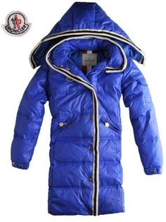 Moncler Long Down Coat With Hood,Moncler Women Down Coats With Hood Zip Blue Outerwear - $220.15 Cheap Moncler Coats www.monclerlines....