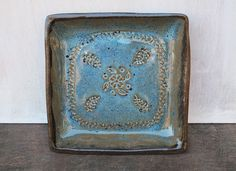 Ceramic Square Plate // Handmade Pottery Serving by KismetPottery