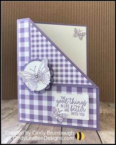 Stampin' Up Butterfly Gala Corner Flip Card Video Tutorial – Cindy Lee Bee Designs Flip Cards, Fun Fold Cards, Folded Cards, Card Making Templates, Card Making Tutorials, Handmade Birthday Cards, Greeting Cards Handmade, Butterfly Cards Handmade, Bee Cards