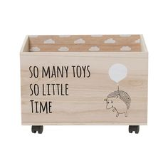 Toy Box with Wheels