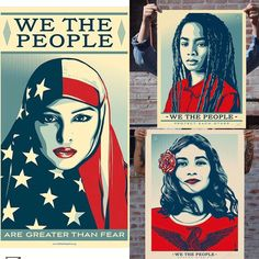 All of these are amazing. Thank you for this art, @obeygiant ! #womensmarch