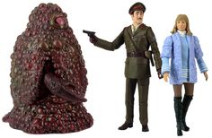 74. Three Doctor's collecotors' set: contains the Brigadier (with gun), Jo (with detachable arms which can remove coat and have Jo's dress with normal arms) and Gel guard