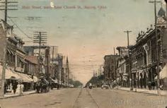 Main Street, North From Church St Marion Ohio