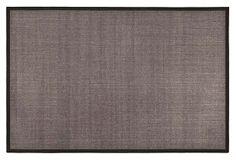6x6 Lily Sisal Rug, Charcoal | OKL $199
