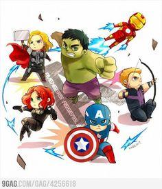 The Avengers Chibi Style