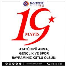 19 Mayıs Atatürk'ü Anma Gençlik ve Spor Bayramınız kutlu olsun. #19mayıs #garantiofis