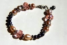 Handmade bracelet from natural pearls & crystals #handmade #bijou #bracelet #pearls