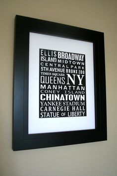 Subway Art Print Poster City or State Custom by DoodleGraphics, $28.00
